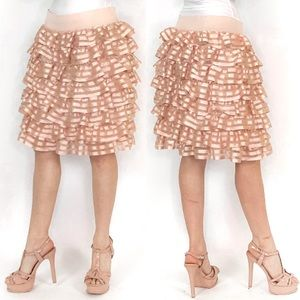Cute Pink Ruffle Skirt
